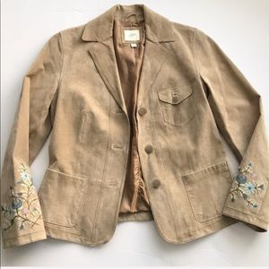 J. Jill Floral Embroidered Jacket Size XS—W01
